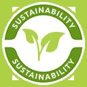 Vi støtter Bæredygtighed